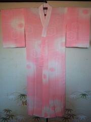 ピンク童子◆長襦袢 正絹単衣チョー美品長身