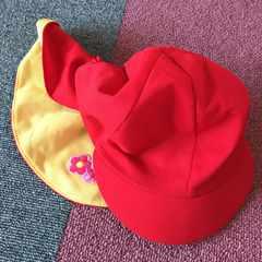 カラー帽子  赤&黄色  KiRinJI
