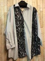 新品☆10Lチュニック丈のスキッパーシャツ6200円を☆b383