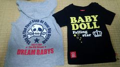 DREAMBABYSとBABYDOLLタンクトップTシャツ2点福袋セットベビド