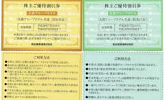 即送☆名鉄グループホテル 優待券 宿泊30%引+飲食10%引セット