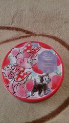 美品 ディズニーランドのクッキー空き缶(ミニー&フィガロ)