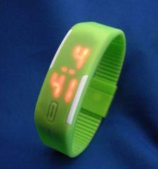 LEDカラフルベルトウォッチGR−腕時計