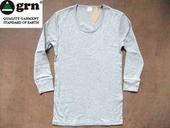 grn(ジーアールエヌ)  無地 7分袖 Tシャツ S  グレー