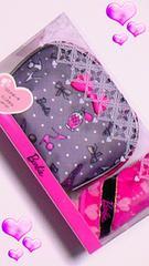 ★新品★バービー★Barbie ★グレー&濃ピンク★ポーチセット
