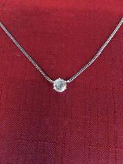 pt850 1ct ダイヤ ネックレス