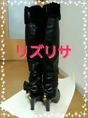 中古 リズリサ ロングブーツ Mサイズ
