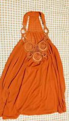 胸元飾り 深オレンジ