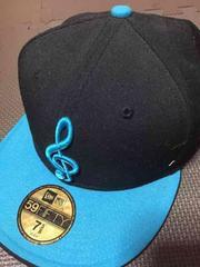 59FIFTY☆帽子。ブルーNEW ERA 音符 ♪ ト音記号 キャップ 新品