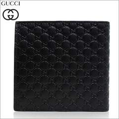 GUCCI 150413-bmj1n-1000 二つ折り財布  GG レザー BK