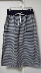 ◆studio Clip◆スタジオクリップボーダー綿ニットスカート