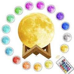 ★即日発送★ 12色に光る 月のランプ 15cm リモコン付