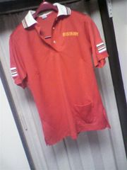Hiltonヒルトン]USA製ヴィンテージMusicmenプルボーリングシャツ赤36