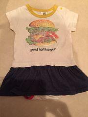 マーキーズロンパース80サイズ☆ハンバーガープリント