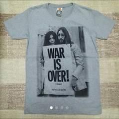 ★戦争反対★WAR IS OVERジョンレノン&オノヨーコ★Tシャツ(S)