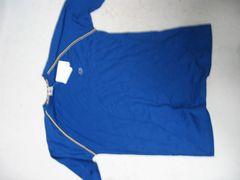◆Champion(チャンピオン)青×黄パイピングTシャツ/170/タグ付新品/