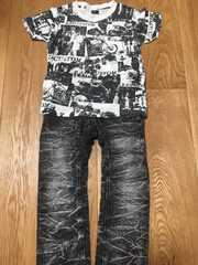 かっこいい!RAD CUSTOM Tシャツ&デニムパンツ 110