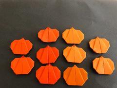 ハンドメイド  折り紙  ハロウィン  カボチャ 10個  壁面飾り