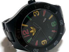 【超大型!!!】 1スタ★Adidas アディダス ラスタカラー 腕時計★
