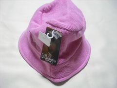 10 女 BILLABONG ビラボン ピンク ウールニット ハット Mサイズ