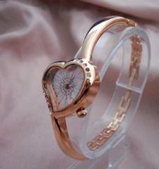ハートシェイプブレスウォッチPG−腕時計