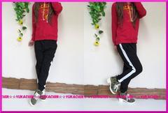 新作◆大きいサイズ3Lブラック◆サイドライン入り◆スエットカジュアルパンツ