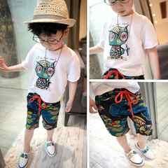 KSBS040可愛い子供、 キッズトップス+ パンツ 夏(90-130)