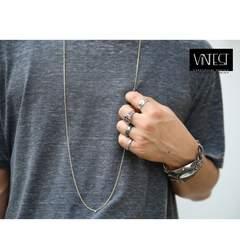 2ミリ 40-100cm ゴールド チェーン ネックレス/引き輪型/喜平ネックレス