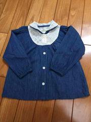 ビケット Biquette 90 長袖 シャツ 美品 デニム