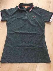 プーマゴルフポロシャツ鹿の子黒