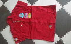160 ANGEL BLUE 赤 半袖ジャケット 美品