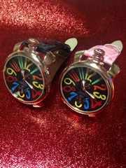 お得なペア2点セット★ファッション腕時計★クラブフェイス