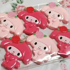 約4cm ☆ 6コ ☆(2色ピンク) 薔薇 オトメロ ☆ マイメロ