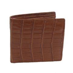 クロコダイル(マットべリー両面折財布)BMWF-224T ブラウン