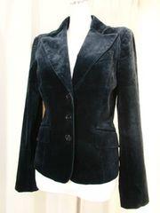 【ZARA WOMAN】黒べルベットのテーラードジャケット