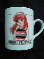 コナミ ときめきメモリアル 藤崎詩織 デザイン プリント マグカップ コップ ホワイト