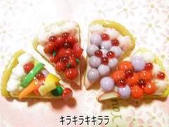 デコ*ケーキ<樹脂粘土>フルーツタルト�U4個セット