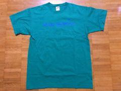 即決!USA古着●鮮やかロゴデザインTシャツ緑!アメカジ・ビンテージ