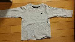 グレーの長袖Tシャツ【100�a】