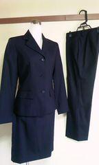 黒スーツ3点セットサイズ1毛100%