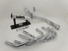 XJR400 4HM 54π new ガニマタ ブレット管 マフラー メッキ pretty製