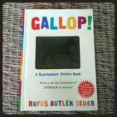 アメリカインポート 輸入本 動く絵本 動物 英語「GALLOP!」ギャロップ インテリア