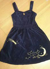 フィント別珍JSKワンピース月夜刺繍クラシカルロリータクラロリ
