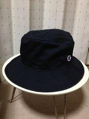 チャンピオン×グリーンレーベルリラクシング バケットハット クルー コットン帽子 黒 S〜M56cm