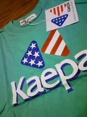 新品★『Kaepa』男女OK〜(^^)グリーン系半袖Tシャツ=110