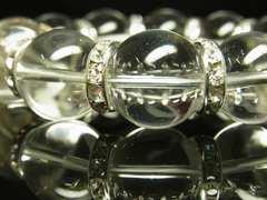 プラスの力に変える 本水晶クリスタルブレスレット 天然石16mm数珠