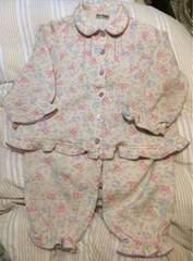サンリオ◆130◆ボンボンリボン温かい冬用パジャマ