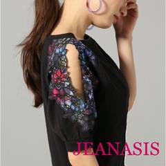 JEANASIS【美品】フラワーカットショルダー  Black