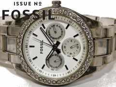 極レア 1スタ★フォッシル FOSSIL【ジルコニア】美しい腕時計