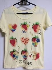 スカラー いちごハート柄Tシャツ☆